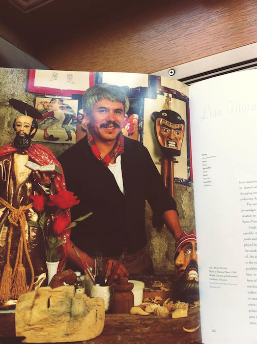 A picture in a book of Lino Mora Rivera.
