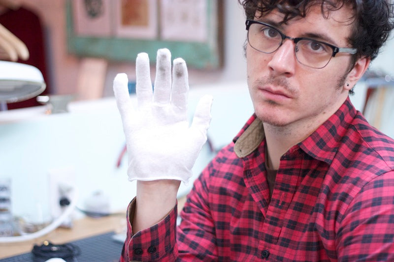 Matt loves y'all so much that he wears these silly gloves.