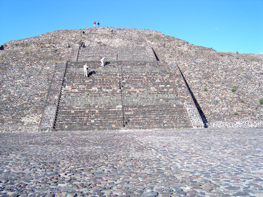 Picture of one of Teotihuacan's pyramids in Mexico.