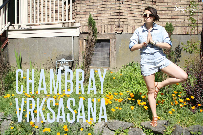 betsy and iya_ barrie chambray romper