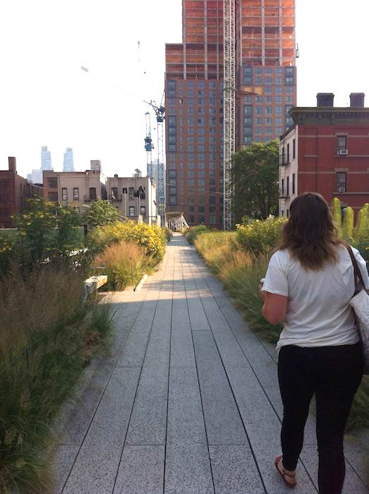 High Line walking in NYC.