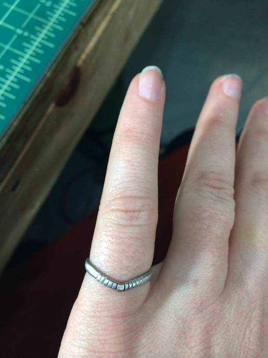 A non-traditional engagement ring by betsy & iya.