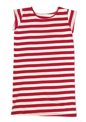 curator theo dress red/white