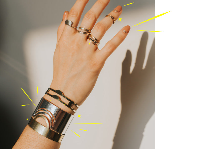betsy & iya jewelry - cuffs and rings