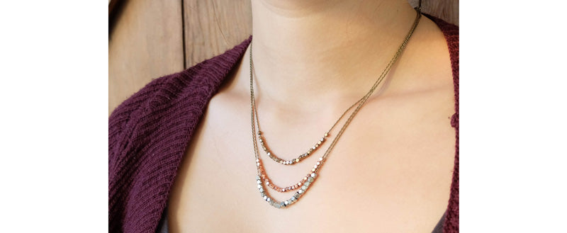 sulu-design faceted bead necklaces layered