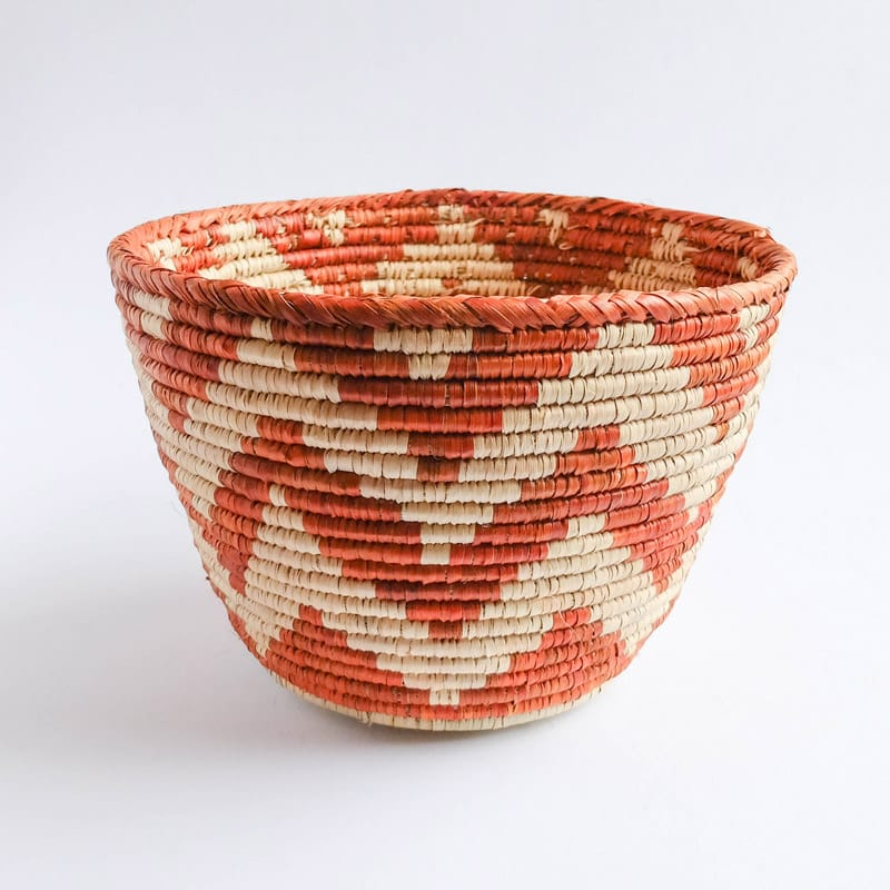 Planter-Size Pakistani Basket with Chevrons