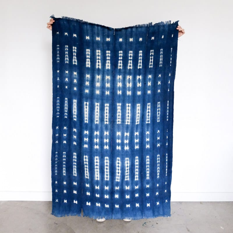 Burkina Faso Indigo with Dotted Bars