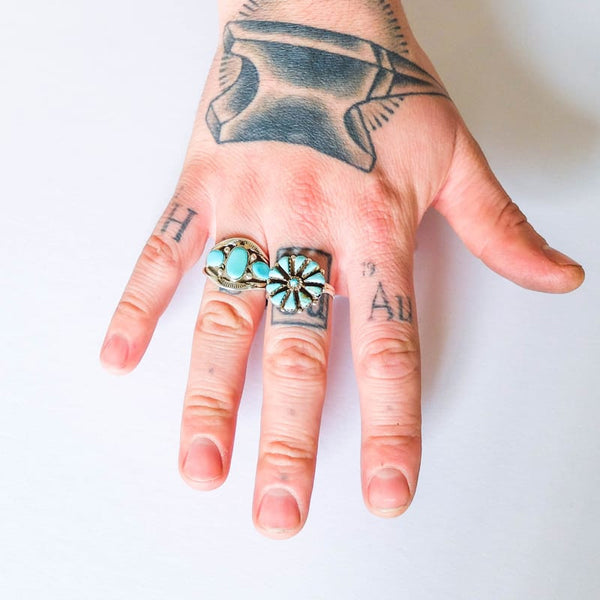 Native American Turquoise Ring, Size 11