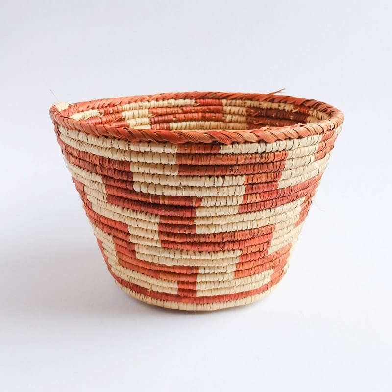 Planter-Size Pakistani Basket with Zig Zags