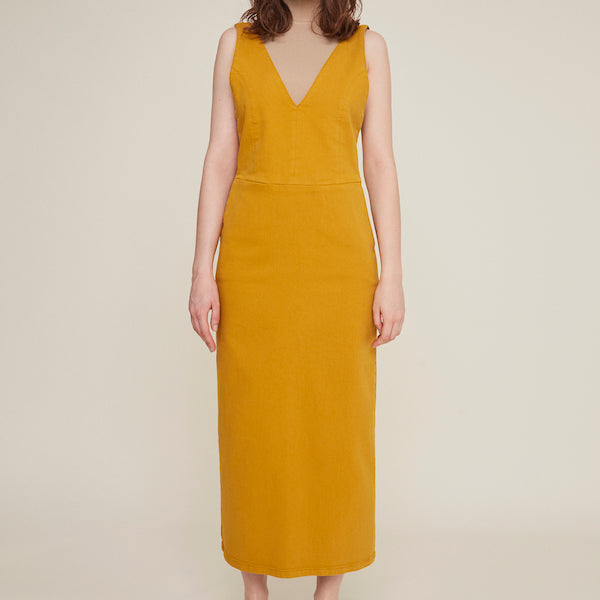 Alda Dress in Mustard
