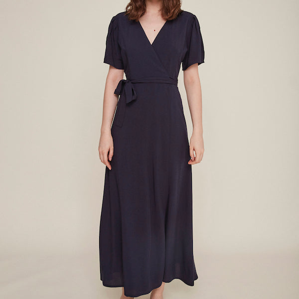 Silvia Dress in Navy