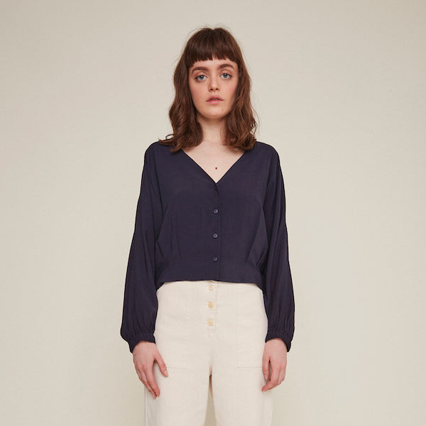 Rosetta Blouse in Navy