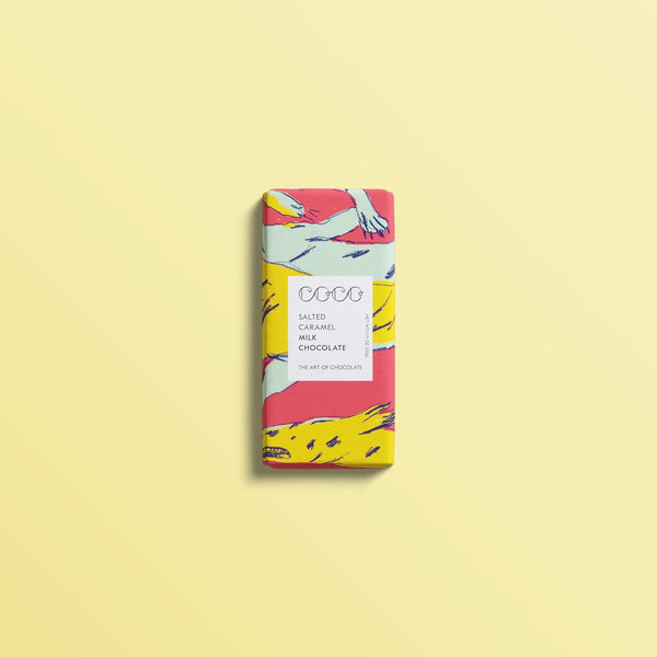 Coco Salted Caramel Milk Chocolate 20G mini bar.