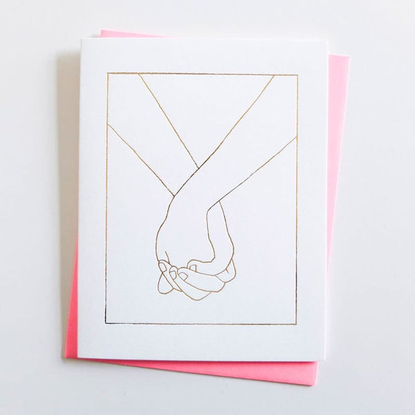 "ASHKAHN ""Forever"" holding hands Love Card"