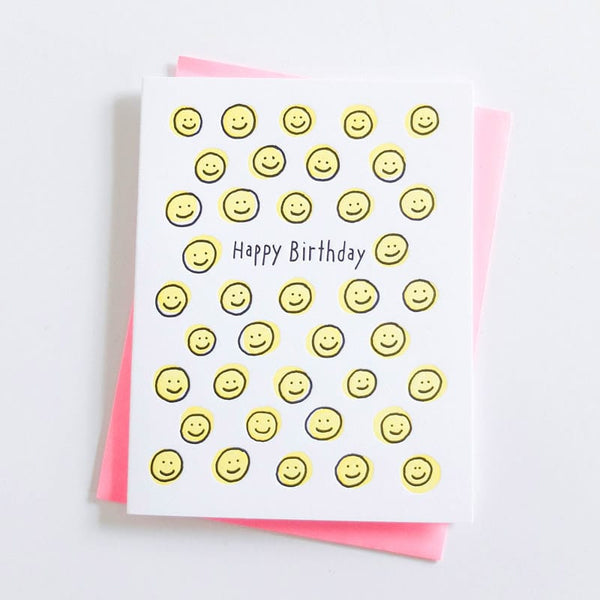 "ASHKAHN ""Happy Face Birthday"" Card"