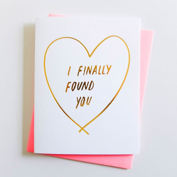 "ASHKAHN ""I Finally Found You"" Love Card"