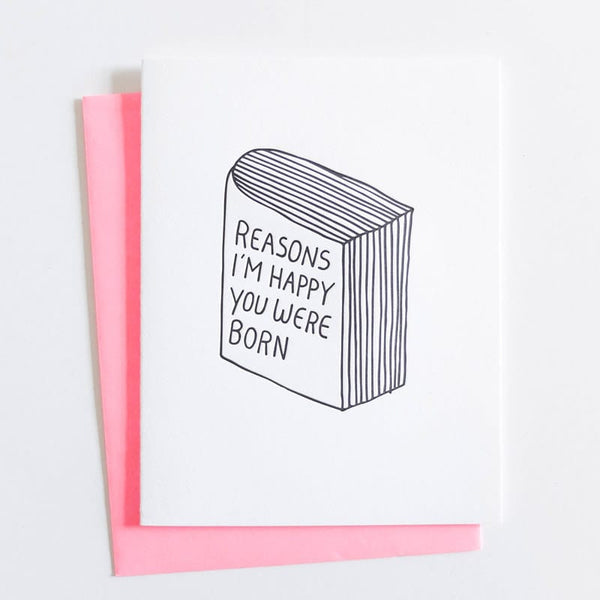 "ASHKAHN ""Reasons I'm Happy You Were Born"" Birthday Card"