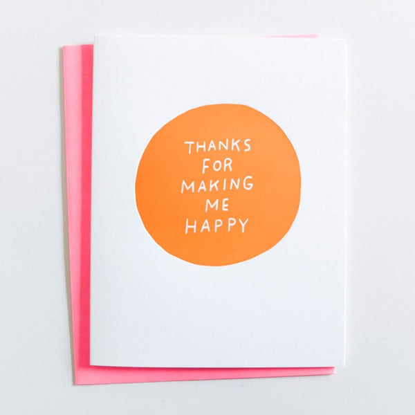 "ASHKAHN ""Thanks For Making Me Happy"" Card"