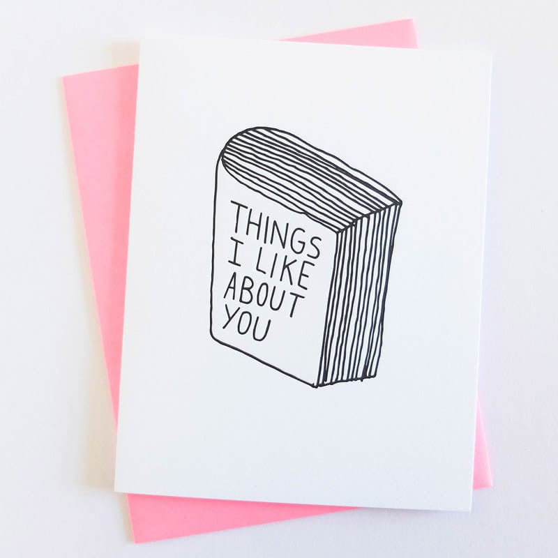 """Things I Like"" Card"