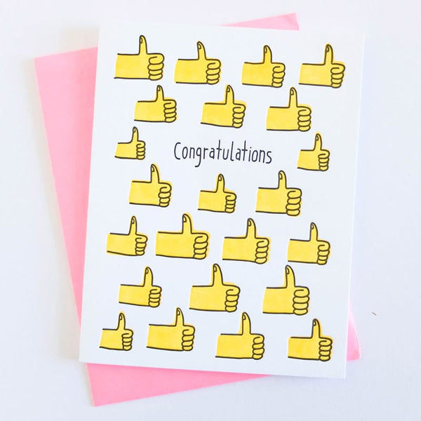 """Thumbs Up Congrats"" Card"