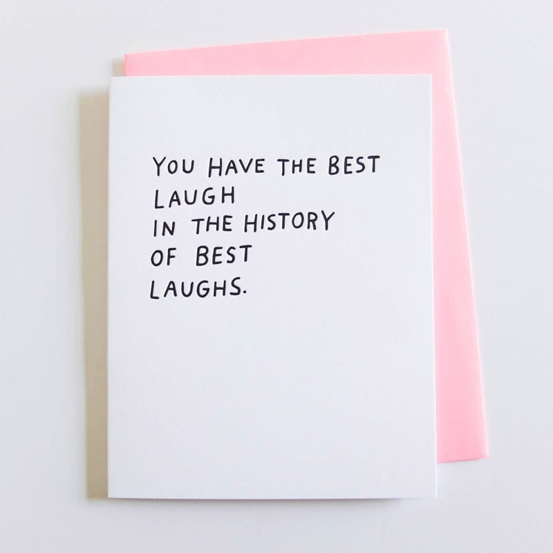 """Best Laugh"" Card"