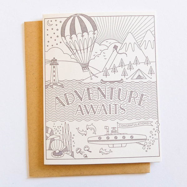 Adventure Awaits Congratulations Card by Hello Lucky Card