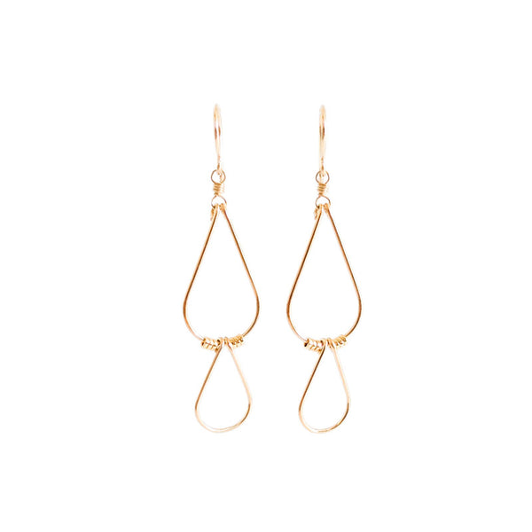 Gold Double Drop Earrings