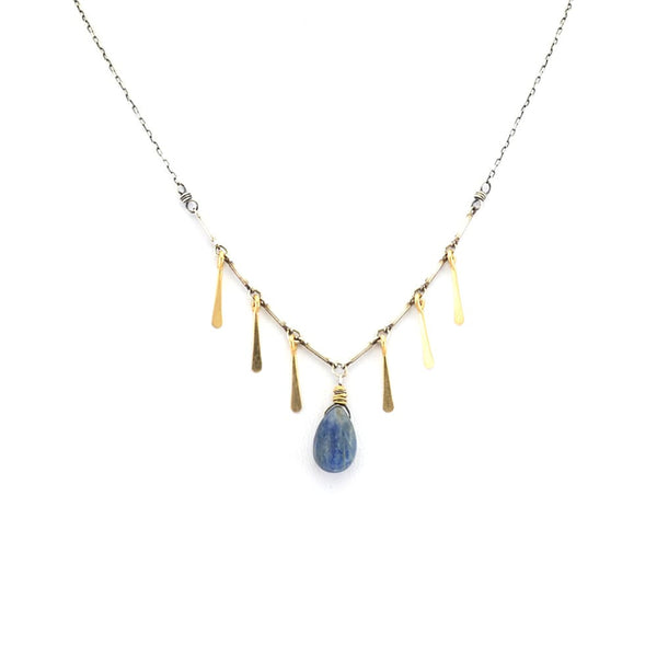 Amy Olson Kayla Blue Pendant Necklace