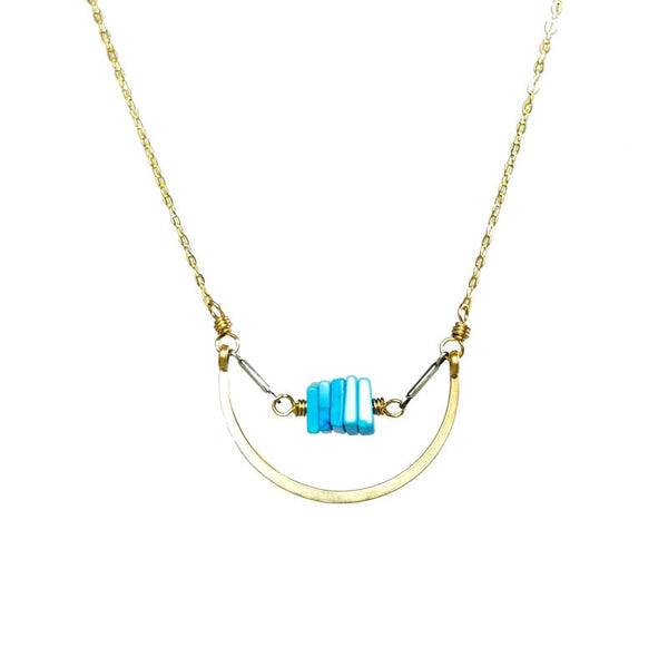Amy Olson Nested Necklace Turquoise