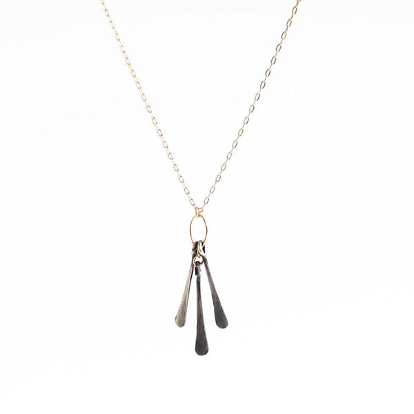 Amy Olson Jewelry Petite Sterling Fringe Necklace Made in Portland Oregon