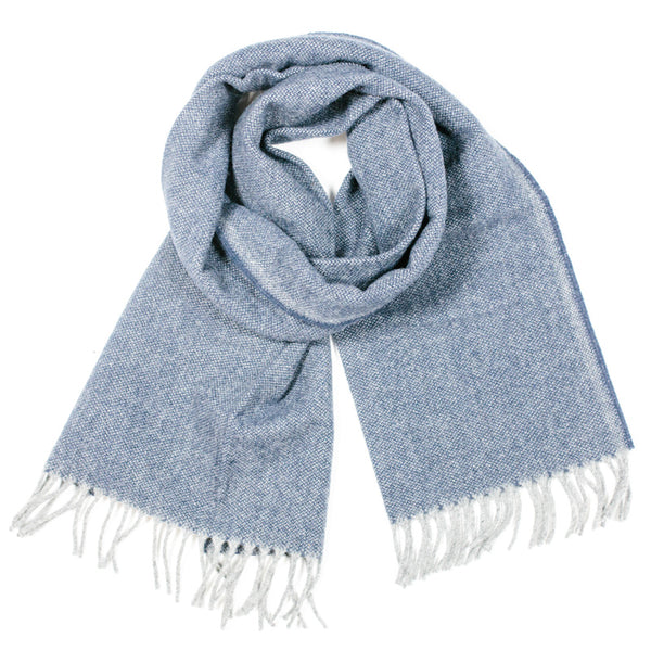 Ashby Twill 100% Merino Wool Scarf in Blue by Faribault Woolen Mills