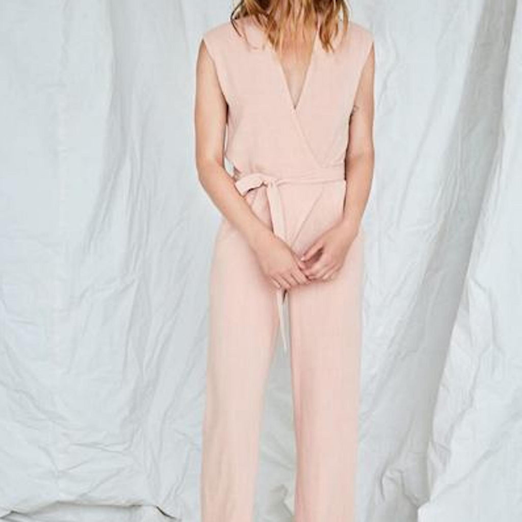 Au Salon Jumpsuit in Litchi