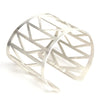 Silver plated Fremont Bridge cuff bracelet by betsy & iya.