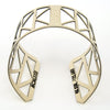 Portland made gold brass cuff with cascading triangle cutouts.