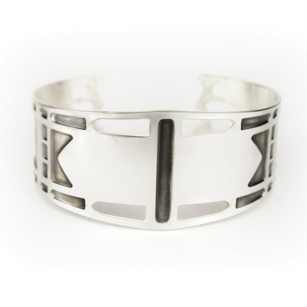 St. Johns Bridge cuff bracelet - Silver