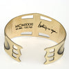 betsy & iya St. Johns Bridge cuff bracelet with etching