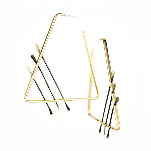 betsy & iya Corollary Triangle earrings.