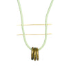 betsy & iya Catenary Ring necklace with African trade beads.