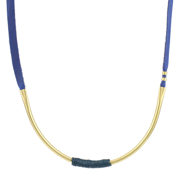 betsy & iya Spring in the Park necklace with raw brass