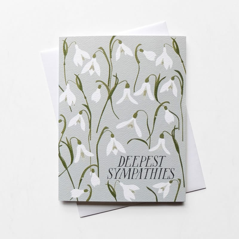 Deepest Sympathies Snowdrops Card