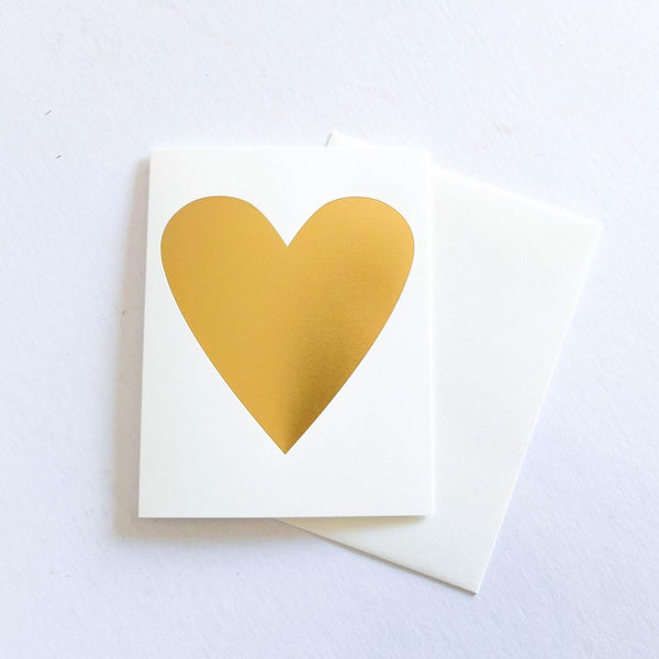 Banquet Cards - Gold Heart Foil Note Card