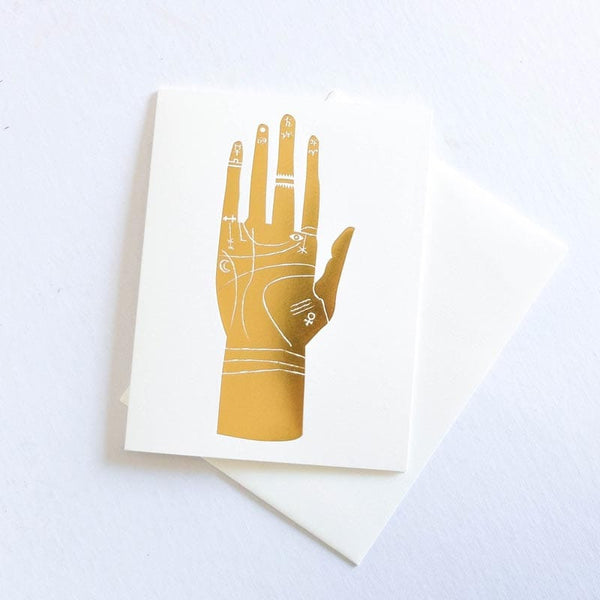Banquet Cards - Palmistry Foil Note Card