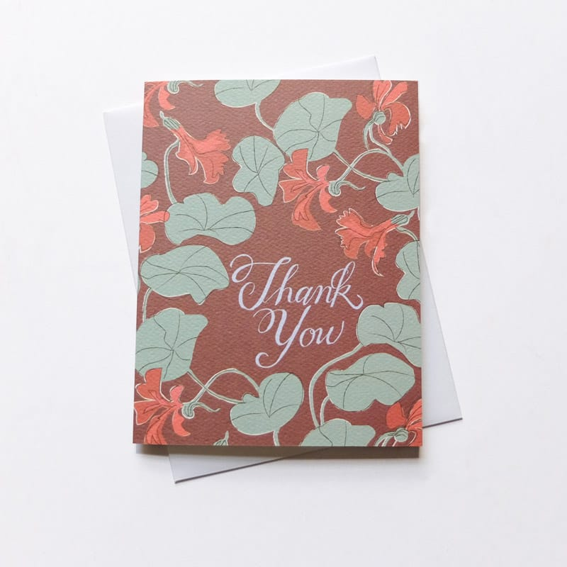 Thank You Nasturtiums Card