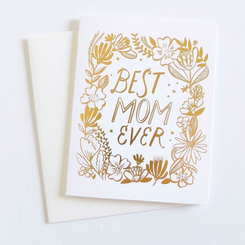 """Best Mom Ever"" Gold Card"