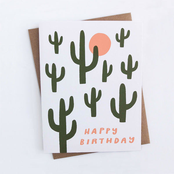 Worthwhile Paper Birthday Cacti Card