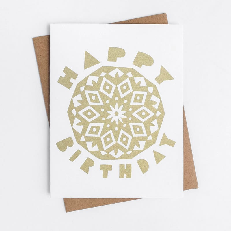 Birthday Mandala Card