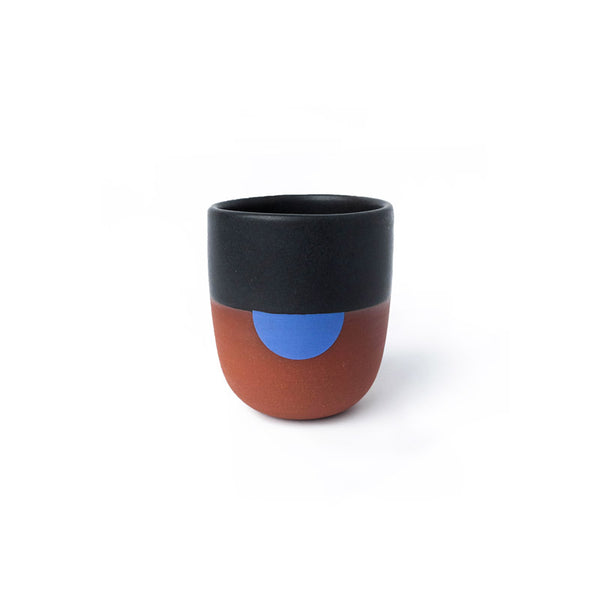 Black and Cerulean Handleless Mug