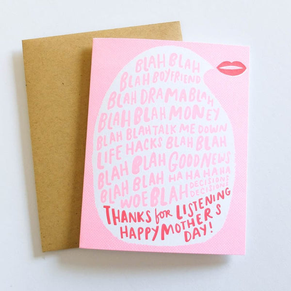Thanks for Listening Happy Mother's Day Card by Hello Lucky