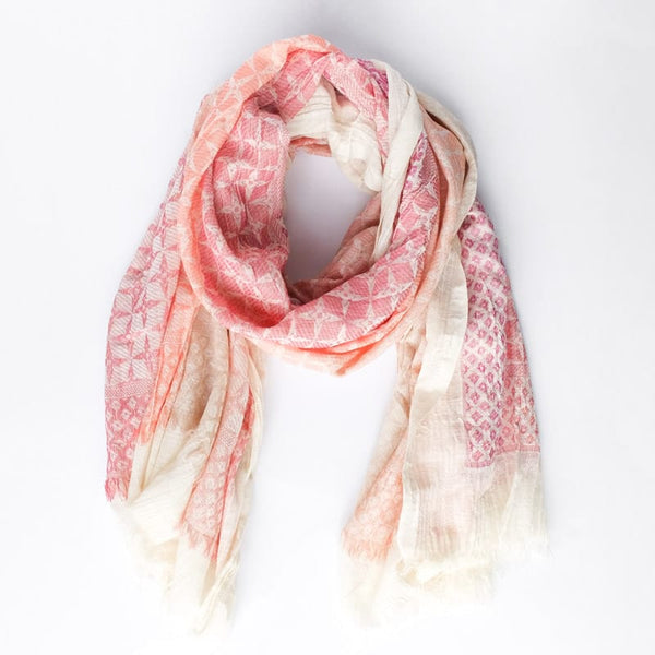 Bloom & Give Rita Cotton Scarf Rose