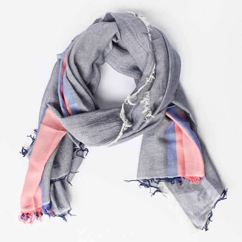 Tres Cotton Scarf Blue